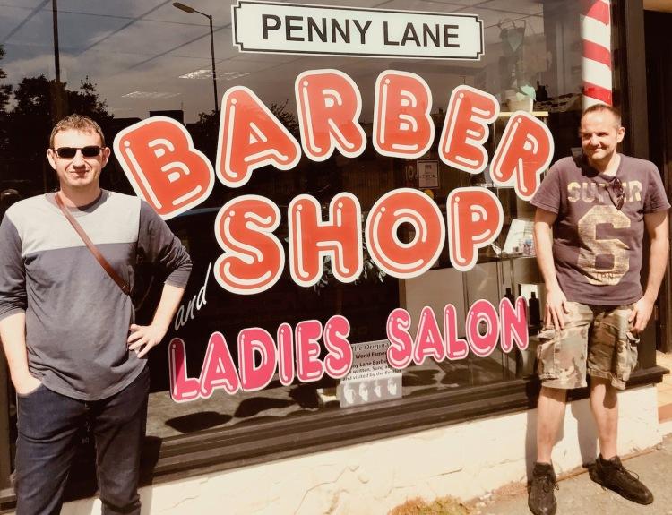 Tony Slavin Barber Shop Penny Lane Liverpool.