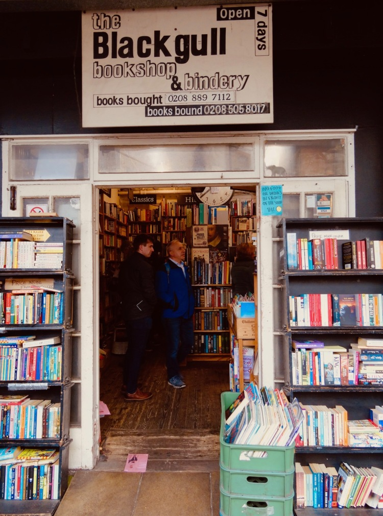 Visit Black Gull Bookshop and bindery Camden Town London.