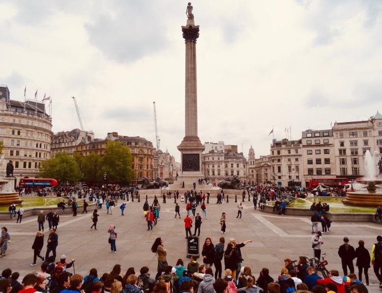 Visit Trafalgar Square London.