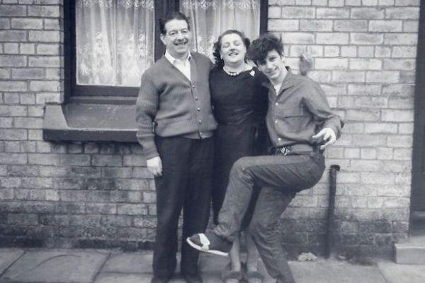 A teenage Ringo Starr outside 10 Admiral Grove Liverpool.
