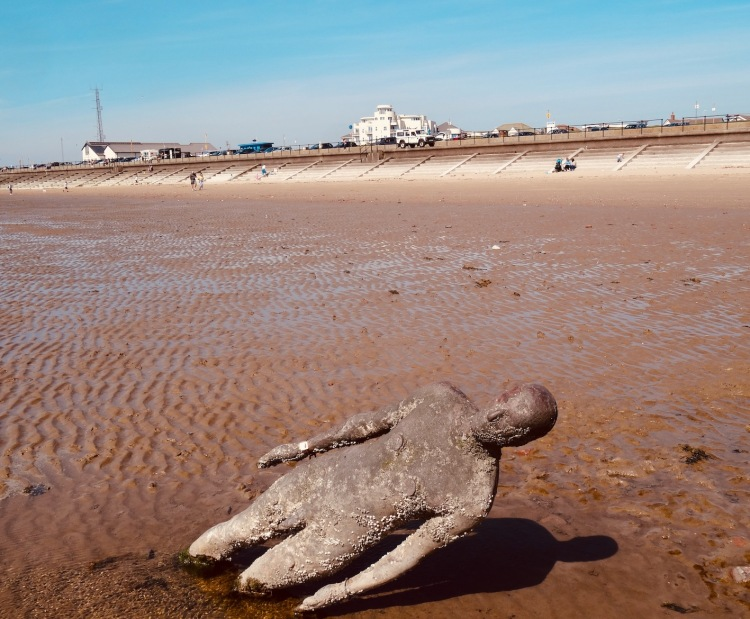 Antony Gormley Another Place Crosby Beach Liverpool.