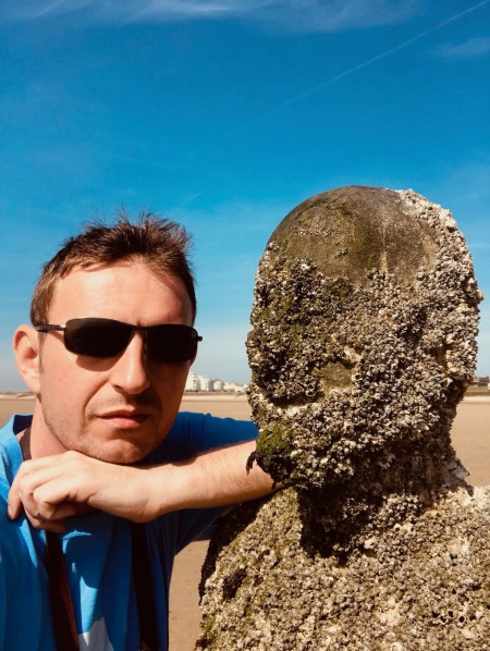 Antony Gormley's Another Place Statues in the Sand Crosby Beach Liverpool.