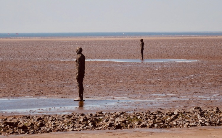 Antony Gormley's Statues in the Sand Crosby Beach Liverpool.