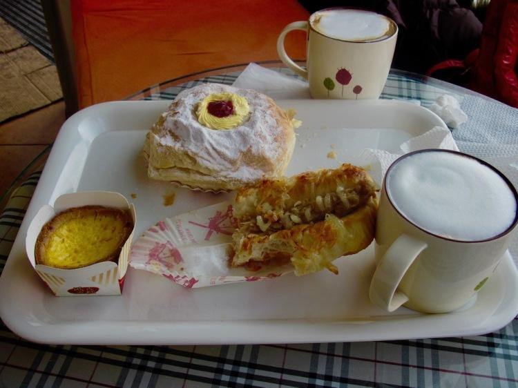 Breakfast at Bomele 1931 Bakery Cafe Harbin China.