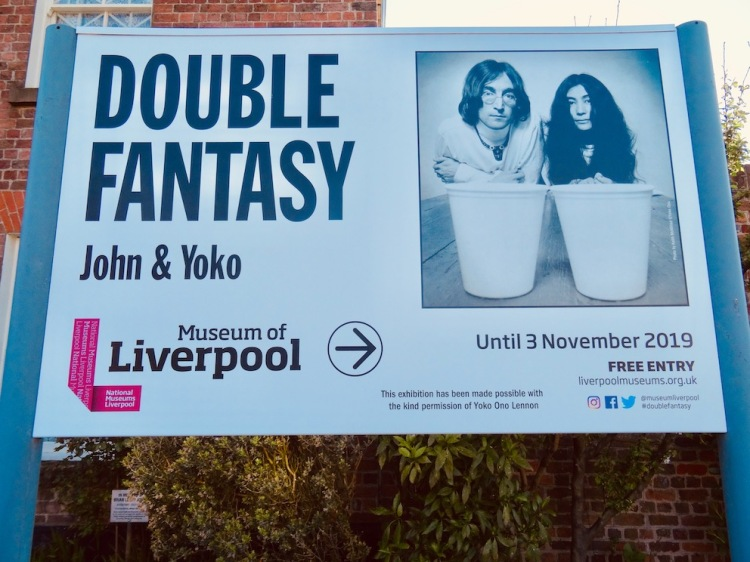Double Fantasy John and Yoko Exhibition Museum of Liverpool.