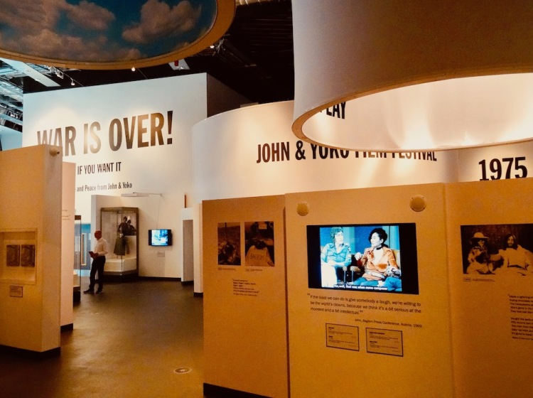 Double Fantasy John and Yoko Exhibition The Museum of Liverpool.