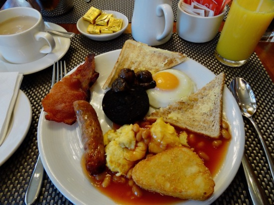 Fried breakfast Hard Days Night Hotel Liverpool.