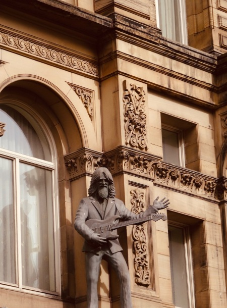 George Harrison sculpture Hard Days Night Hotel Liverpool.