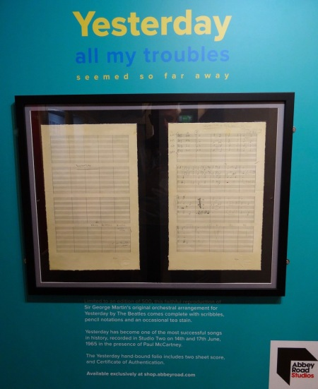 George Martin's orchestral arrangement for Yesterday The Beatles Story Liverpool.