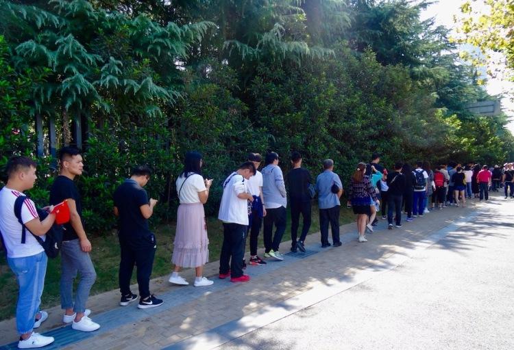 Golden Week queues at Nanjing Massacre Memorial China