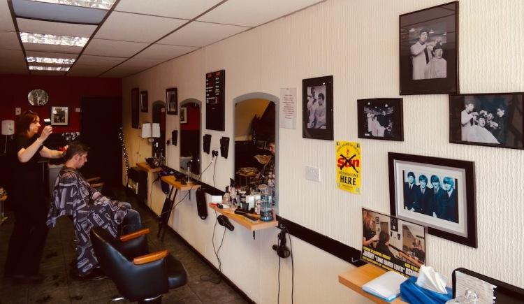 Inside Tony Slavin Barber Shop Penny Lane.