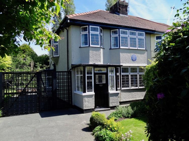 John Lennon childhood home Mendips 251 Menlove Avenue.