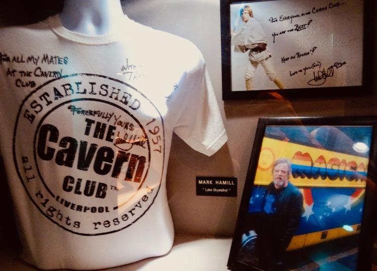 Mark Hamill signed Star Wars memorabilia The Cavern Pub Liverpool.