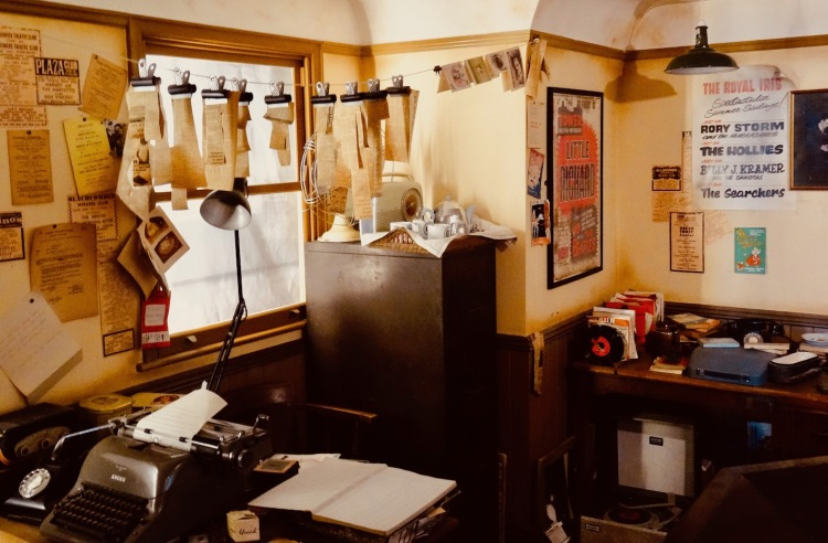 Mersey Beat Magazine office replica The Beatles Story Liverpool.