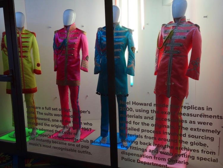 Sgt. Pepper's suits The Beatles Story Liverpool.