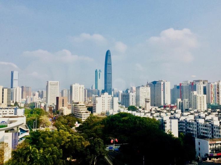 Shenzhen Skyline from The Pavilion Hotel.