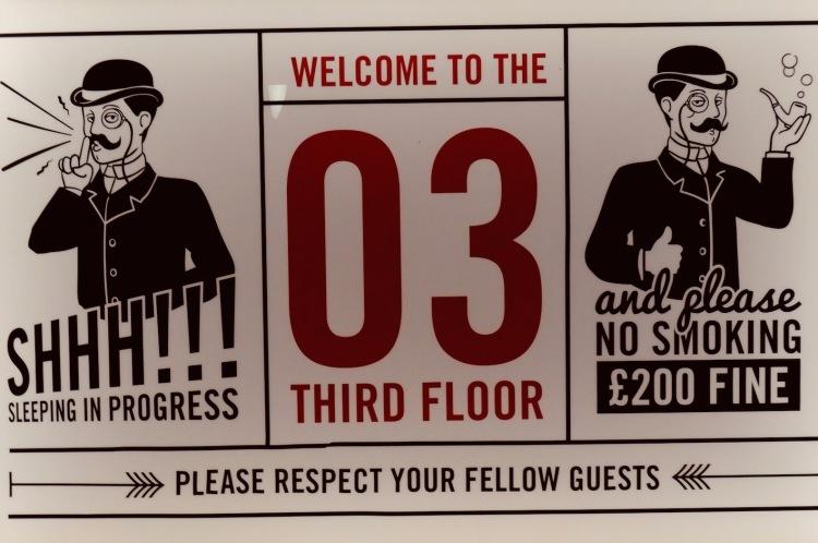 The 3rd floor Hatters Hostel Liverpool.