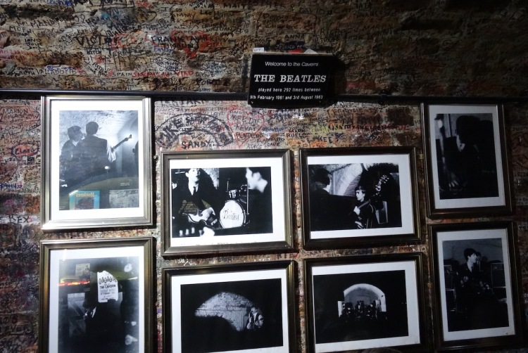 The Beatles at The Cavern Club Mathew Street Liverpool.