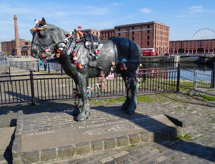 The Liverpool Carters Working Horse Monument Albert Dock.
