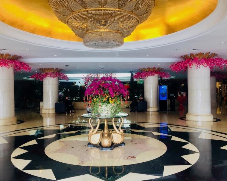 The lobby at Pavilion Hotel Shenzhen China.