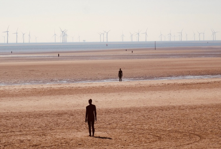 The Statues in the Sand Crosby Beach Liverpool.