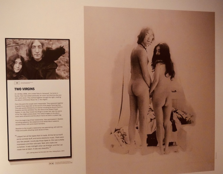 Unfinished Music No 1 Two Virgins Double Fantasy John and Yoko Exhibition Museum of Liverpool.