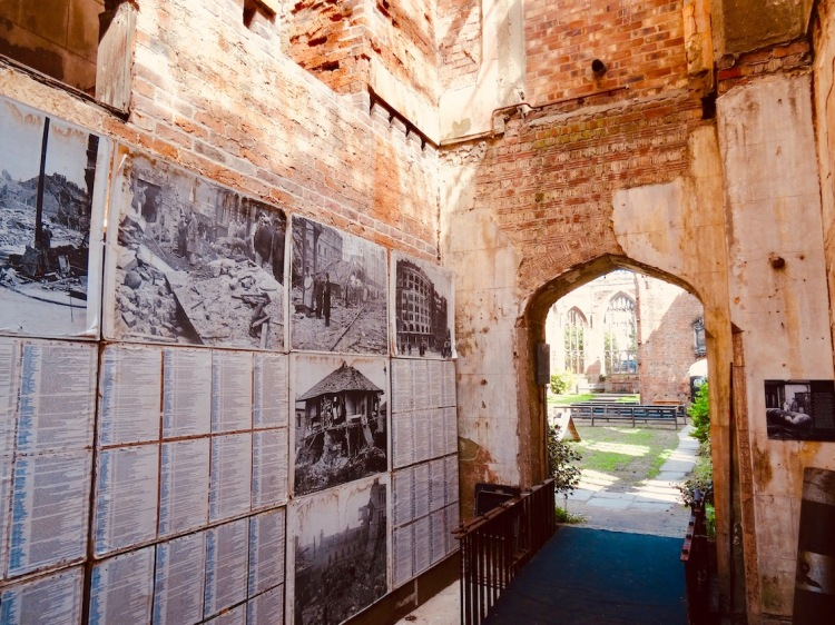 World War II exhibition at St. Luke's Bombed Out Church Liverpool.