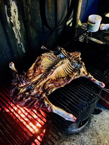 Barbecue lamb Lingshang Renjia Restaurant Village Yongjia County China.