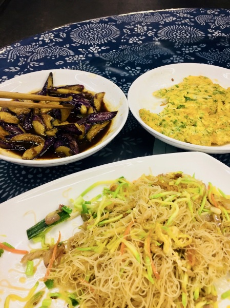 Chinese dinner Lingshang Renjia Restaurant Village Yongjia County China.