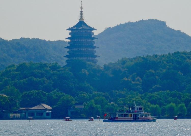 Leifeng Pagoda West Lake Hangzhou China.