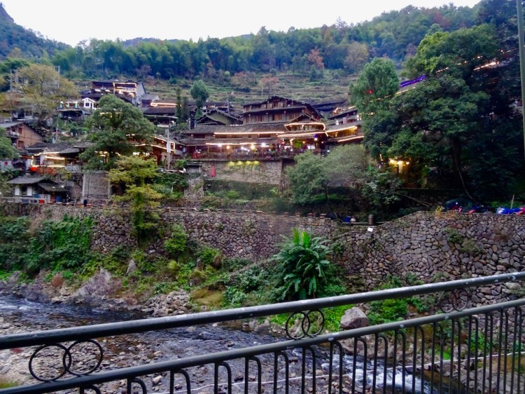 Ling Shang Restaurant Village Yongjia County China.