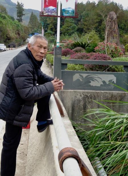 Old man Nanpuxi Reservoir Taishun County China.